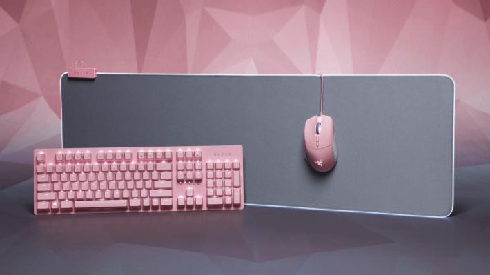 Basilisk Quartz 滑鼠、Huntsman Quartz 遊戲鍵盤、Goliathus Extended Chroma Quartz 滑鼠墊