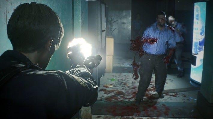 試玩版中大家將會扮演 Leon 進入警察局。