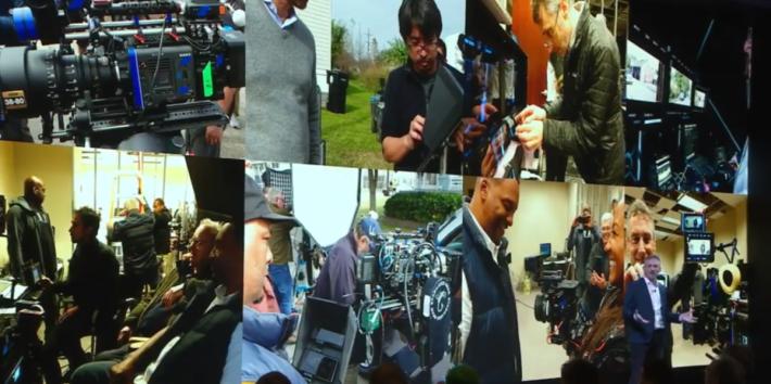 荷里活的製作裡面,製作人以 Xperia 1 作為拍攝用的監察屏幕