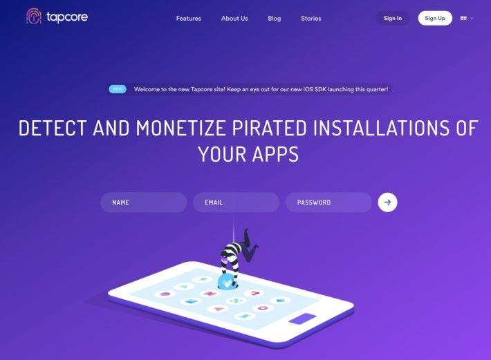 荷蘭 Tapcore 專門幫助開發商監察用戶有沒有安裝盗版程式,並向使用盜版軟件的用戶播放廣告以還原廣告費給開發商。