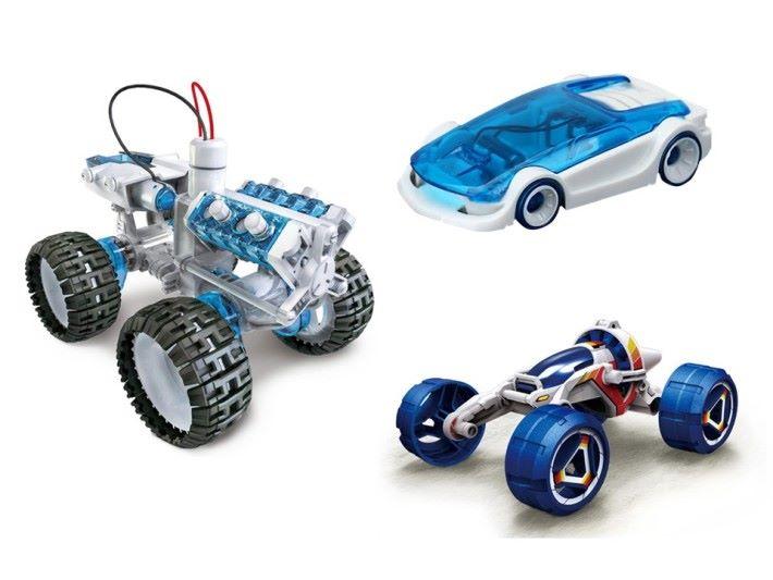 玩具鹽水車外觀可以不太一樣,動力是由鹽水電池提供。