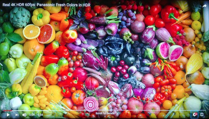 色彩層次感豐富,不同蔬果的色彩也能忠實還原。