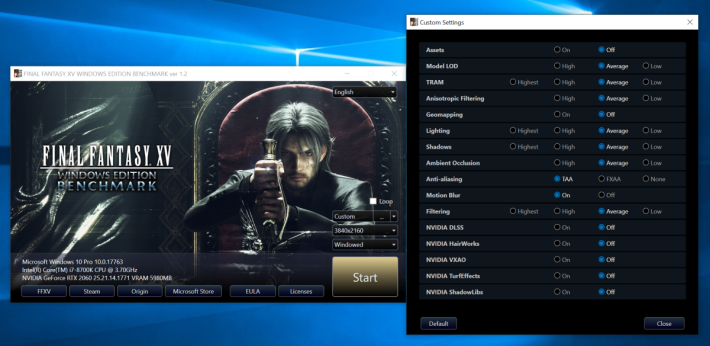 《Final Fantasy XV Benchmark》在 1.2 版中支援 NVIDIA DLSS 測試。