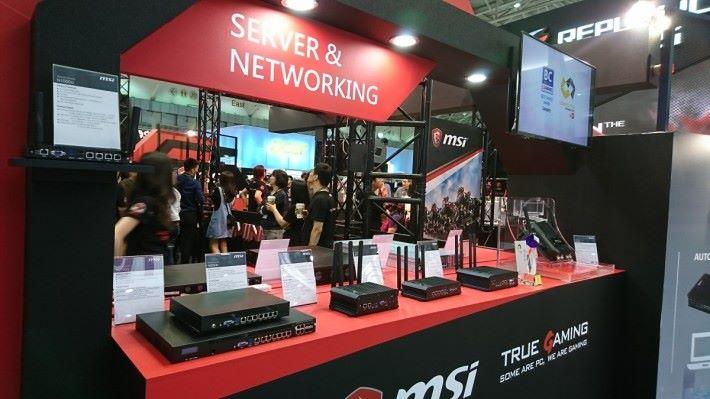 MSI 的網絡產品皆是商用或工業用。(筆者攝於 2017 年台北 Computex。)