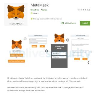 有人冒用了 MetaMask 的名義來推出偷加密貨幣的 App 。事實上 MetaMask 的公司名稱並不是 mmask inc 。