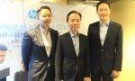 HP 香港董事總經理楊諾礎(中)。