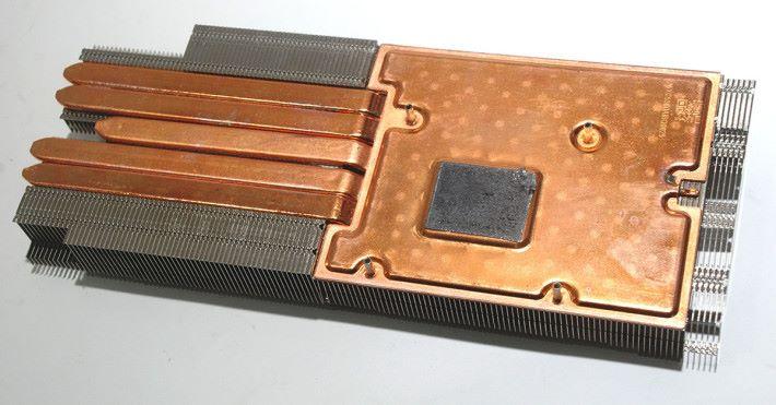 5 根 heatpipes 的散熱器