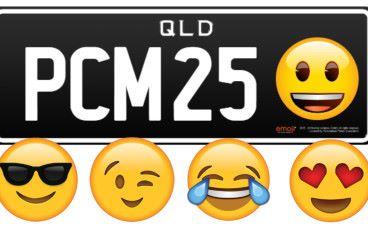 澳洲昆士蘭自訂車牌  五款Emoji任揀