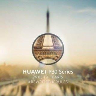 Huawei 發出的邀請函在蒙糊的背景中有一圈清晰的巴黎鐵塔細節,暗示以高倍率遠攝作主打。