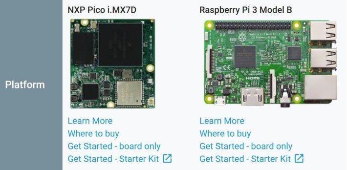 現在 Android Things 支援的硬件,只剩下 NXP 的 i.MX7D 和 Raspberry Pi 3B 。