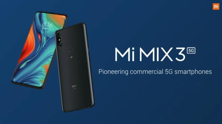 MIX 3 5G 是小米首部 5G 手機,以 MIX 3 為設計基本。