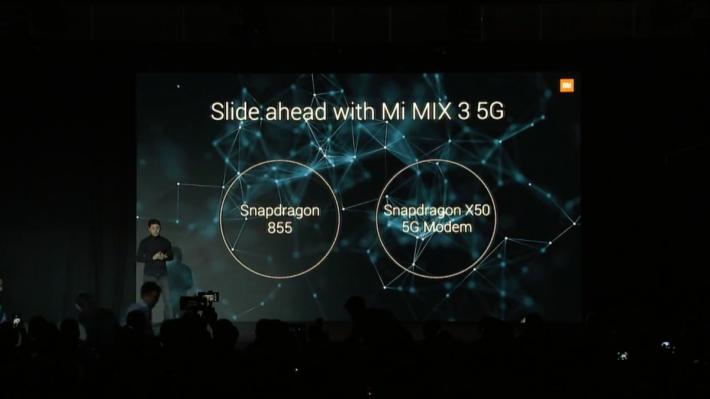 此機主要換上 Snapdragon 855 處理器、Adreno 640 GPU,以及內置 Snapdragon X50 5G Modem。