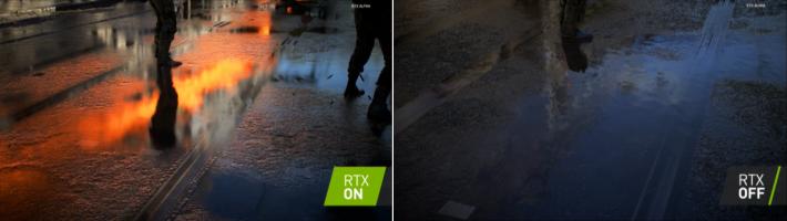 NVIDIA 於發表會展示 RTX On 與 RTX Off 效果相差很大,但實際在遊戲呈現的效果並不明顯,亦有玩家反映在與敵人激戰時,其實沒暇留意到這些細節。