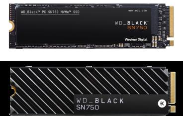 拒絕 QLC WD 推出 Black SN750 電競 NVMe SSD