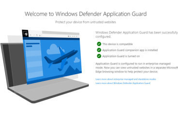 Win10 版本 1903 新功能預覽 Windows Defender Application Guard 下放 Chrome 、 Firefox