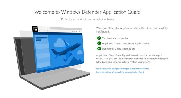 如果用戶已安裝「 Application Guard 擴張機能」,並完成設定信任網站的話,開啟 Chrome 或 Firefox 時就會見到這個提示。