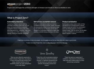 Amazon 邀請品牌廠商參加 Project Zero,提供工具讓他們可以即時刪除冒牌貨,也為 Amazon 的人工智能工具提供學習資料。