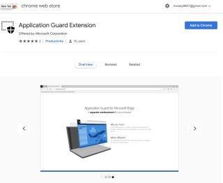 Edge 瀏覽器的「 Windows Defender 」,以插件方式提供給 Chrome 和 Firefox 使用。