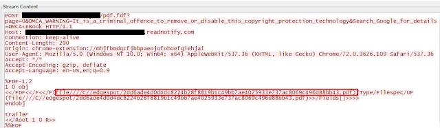 但是用網絡封包分析軟件 Wireshark 查看,就會發現不尋常的通信。