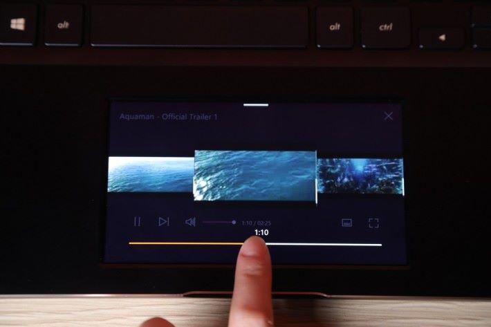 播放影片時可以選擇從哪個時間點開始播放。