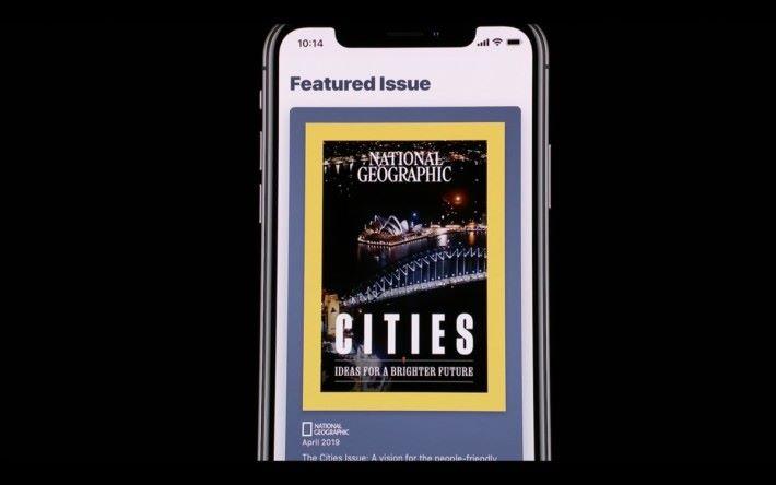 News App 的雜誌介面提供 Live Photo 式的動畫效果