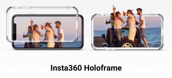 配合特製手機殼和 Insta360 EVO 手機程式的眼球追踪技術,可以裸眼觀看 3D 影片。