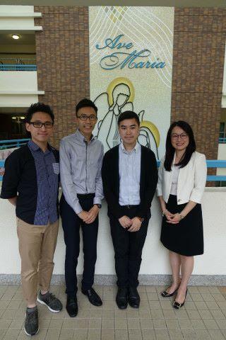 林誠東老師、趙俊明主任、陳凱俊老師及何建儀校長分享教學點滴(左起)。