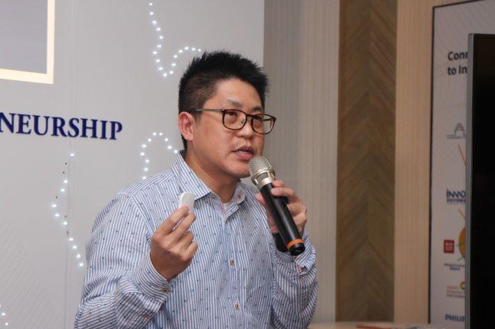 謝仰東表示,經科學園介紹帶來更多合作機會。