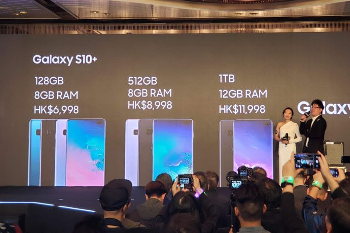 香港會發售 12GB RAM、1TB ROM 的頂級版本 Galaxy S10+,定價達 $11,998。