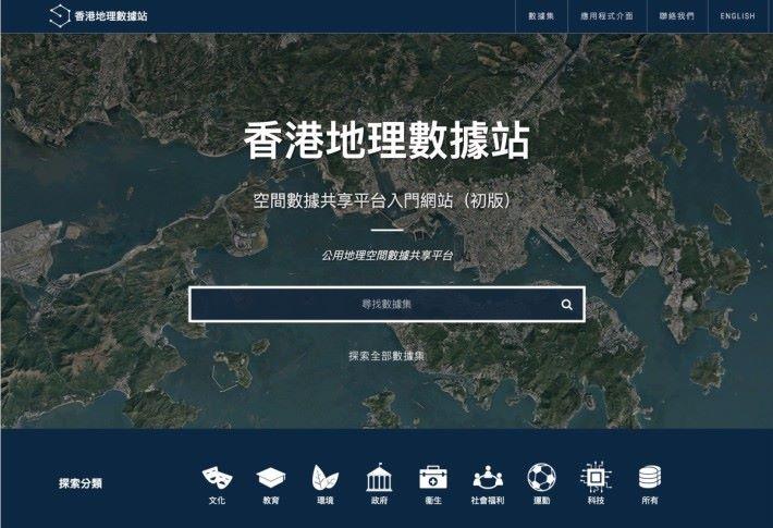 公眾可以透過「香港地理數據站」取得「空間數據共享平台」上的資料。