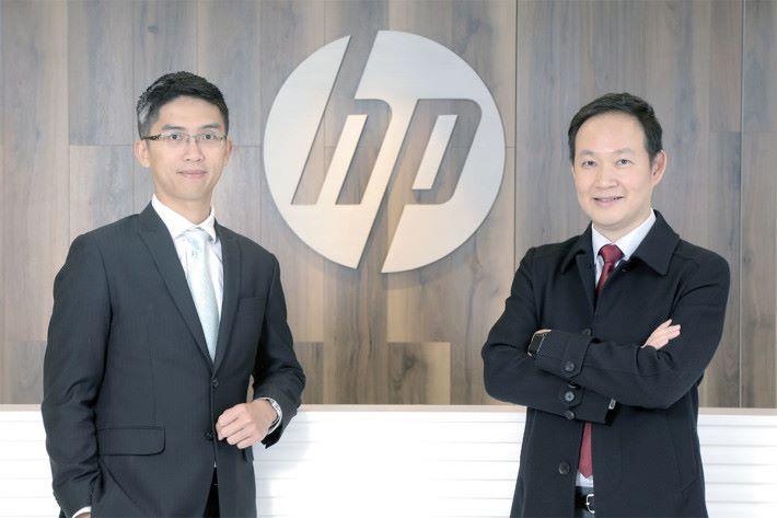 HP 香港打印系統商務產品業務總監陳富賢(左)及HP 香港個人系統商務產品業務總監江錦泉。