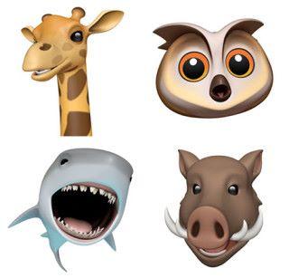 四款新增的動物 Animoji