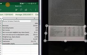 企業版 Android Excel 好用功能!用相片建立表格
