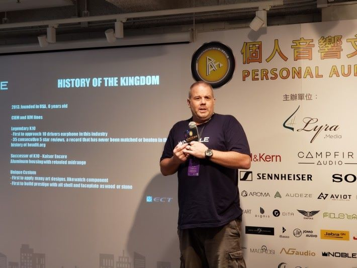 Noble Audio 主理人「The Wizard」親臨香港出席 Khan 發布會。