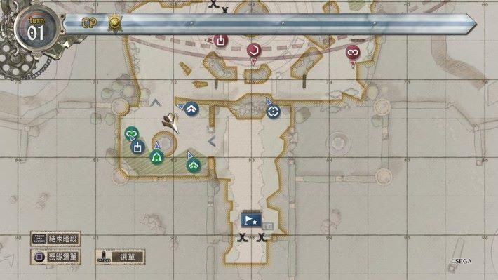 「指令模式」就如同戰棋遊戲一樣,可以得知地圖的情況。