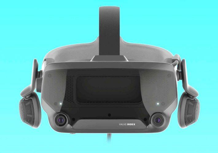 頁面上顯示的 Valve Index Headset 清晰照片