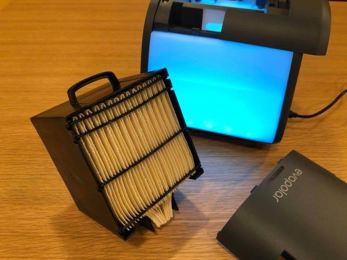 濾網能做到過濾空間的效果。而且可以更換,方便又衛生。