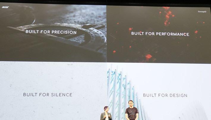 ConceptD 產品線以這幾個重點為設計方向。