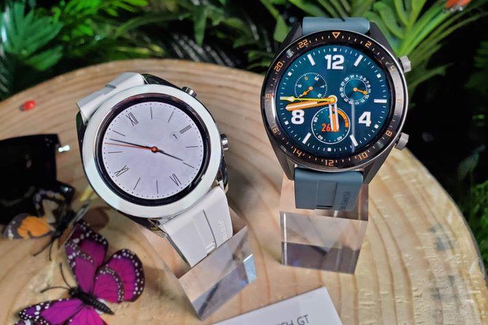擁有 46mm 與 42mm 兩個版本的 Watch GT,定價 $1,388,兩款同價。