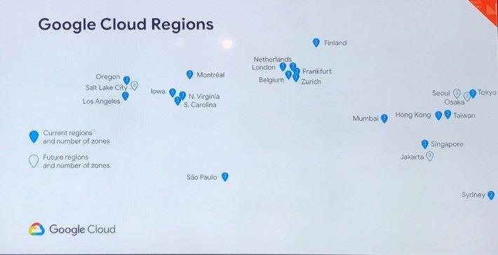 Google 將在 2020 年前新增四個可用區域,包括日本大阪、南韓首爾、印尼雅加達及美國鹽湖城。