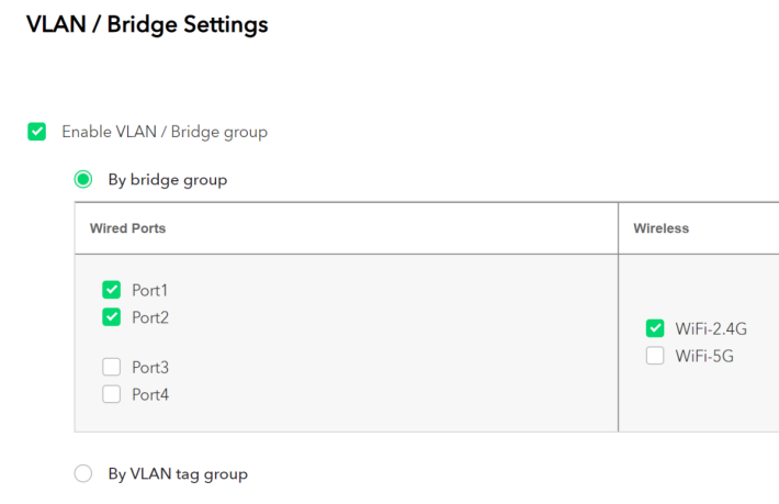 家用 Router 罕見的 VLAN 設定都有。