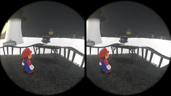 以小遊戲為主的 Mario Odyssey VR 模式。