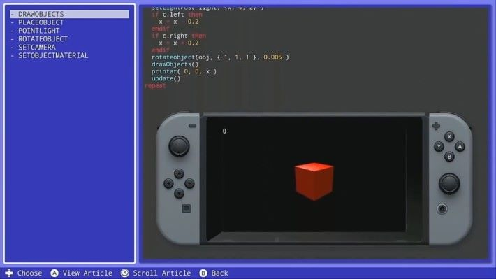 Fuze for Nintendo Switch 可以讓小朋友用 Switch 來學習寫遊戲