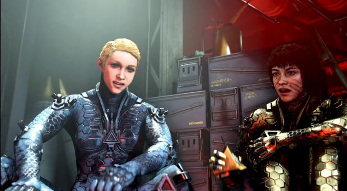 RTX 效果於兩名女主角的「金屬戰衣」上特別明顯。
