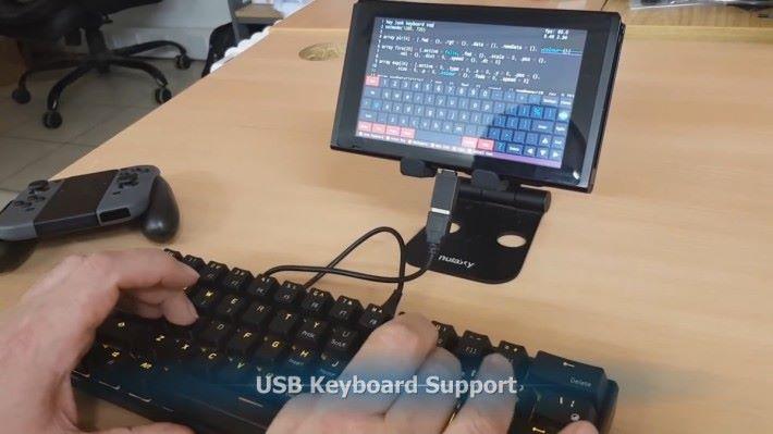 支援 USB 鍵盤編程