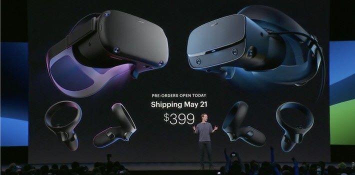 朱克伯格在 F8 大會上公布兩款 VR 裝置開始接受預訂