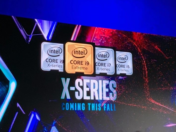 優化時脈的 Core X 系列 CPU 就會在今年秋季推出