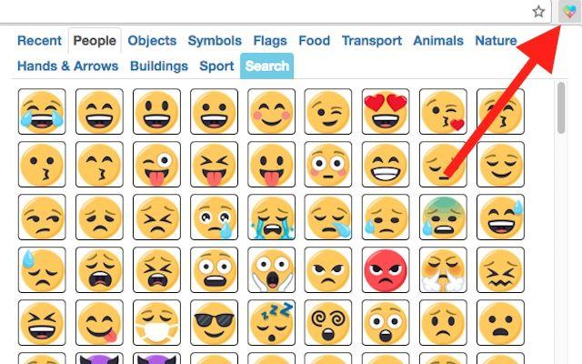 按一下按鈕,就能叫出介面輸入Emoji。