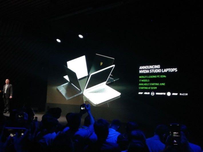 7 間廠商—— Acer 、 ASUS 、 Dell 、 GIGABYTE 、 HP 、 MSI 和 Razer ——將推出 17 款 NVIDIA Studio 筆電