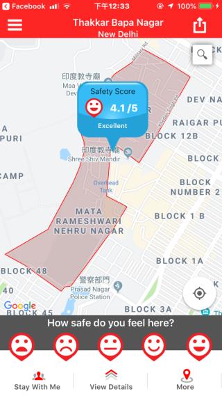 點擊地圖,就可以看到了相關地區的安全狀況。